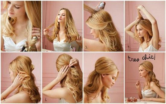 Причёска на день рождение своими руками