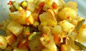картошка с замороженными овощами