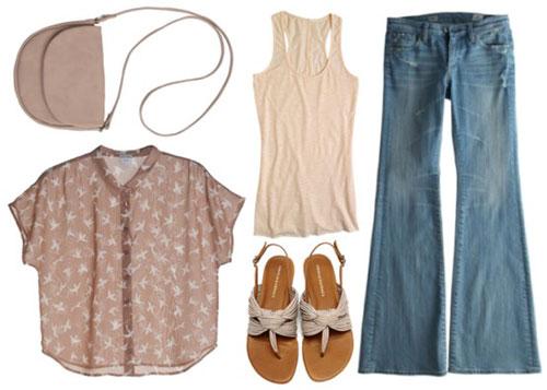 весенняя одежда винтаж