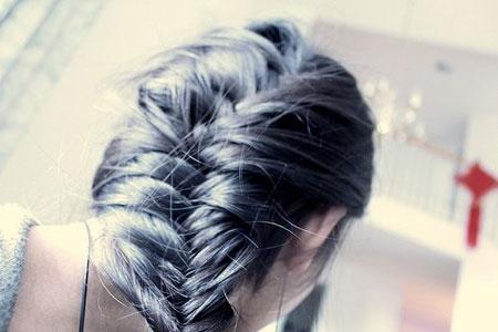 французская коса из двух прядей