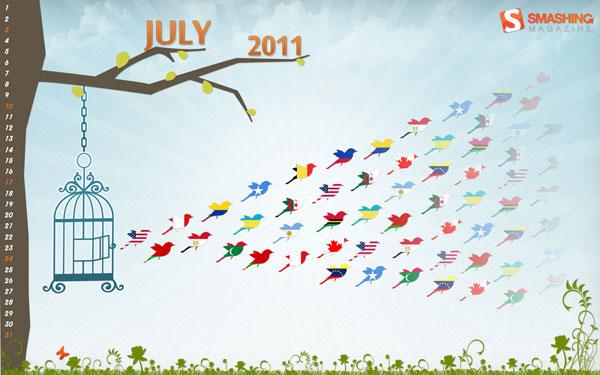 яркие обои июль 2011