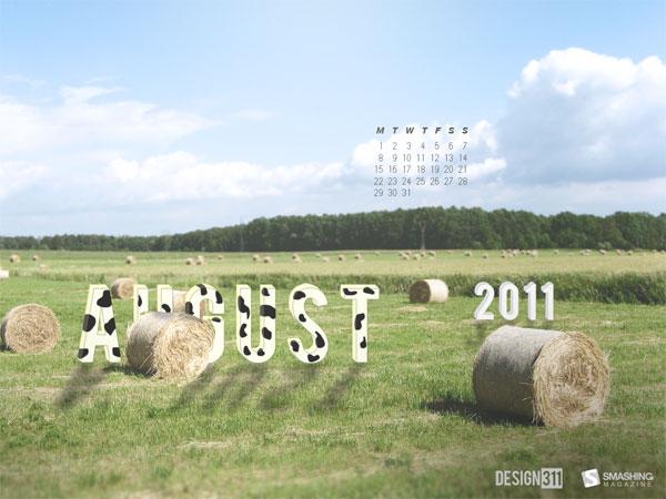 обои с календарем на август 2011
