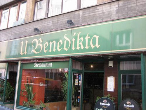 Restaurace U Benedikta Прага