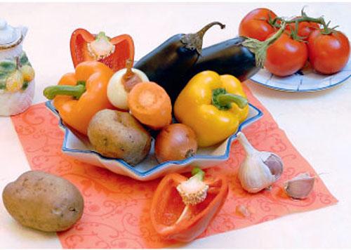 рецепт картофеля с овощами