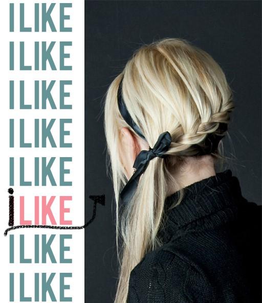 украсить волосы лентой