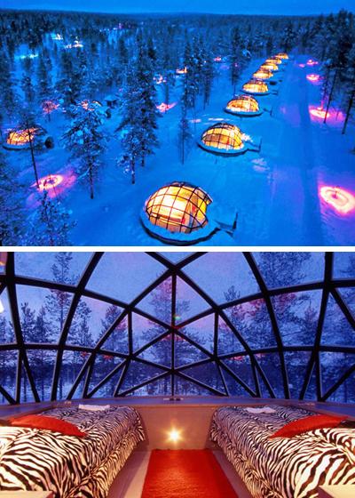 отель со стеклянными иглу