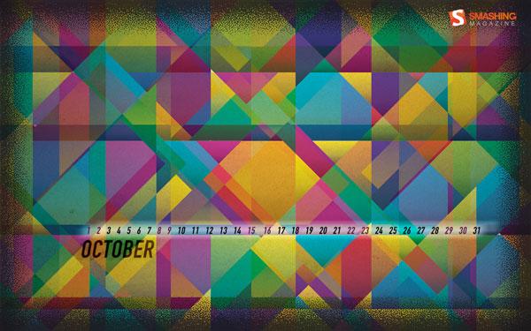 обои с календарем на октябрь