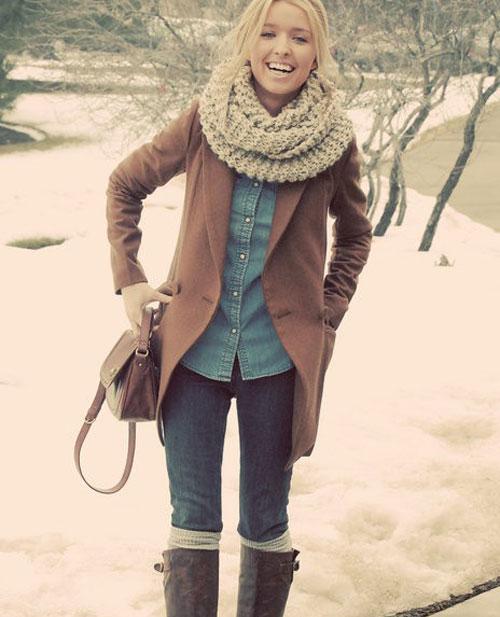 Что носят этой зимой девушки