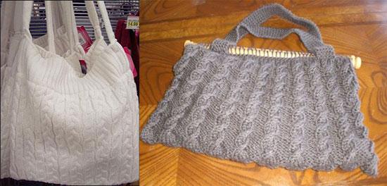 2. Большие вязаные сумки.  Связать сумку побольше такдже не составит...