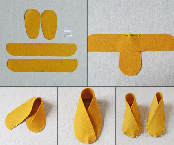 Как сделать тапочек своими руками