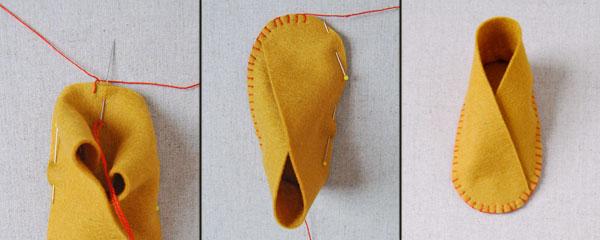 Как сшить следки из ткани своими руками 82