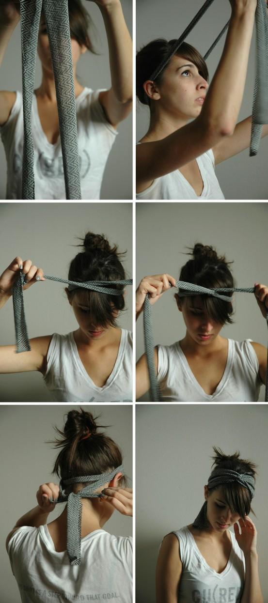 Как сделать полоску на голову своими руками