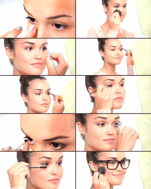 красивый макияж под очки