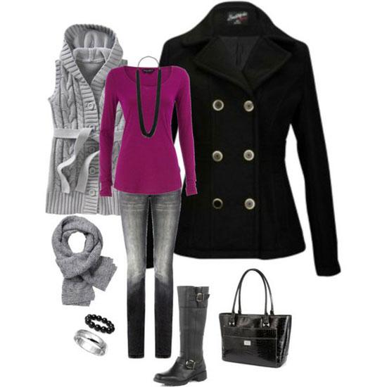 стильные зимние наряды
