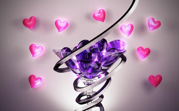 стильные обои День Валентина