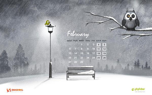 красивые обои февраль 2012