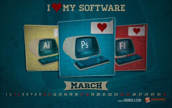 красивые обои март 2012