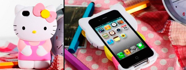 Чехол 3D Hello Kitty для iPhone 4/4S