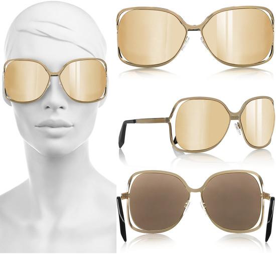 позолоченные очки от Виктории Бекхэм