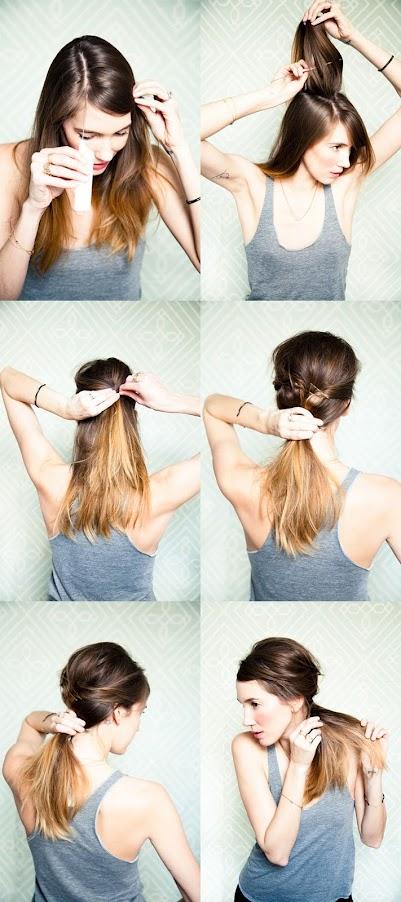 Как из хвостика сделать красивую прическу