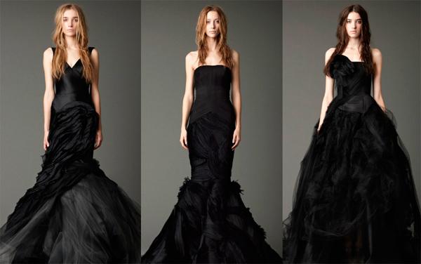 Изобр по > Черные Свадебные Платья Vera Wang