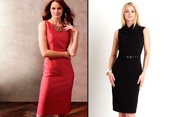стильные деловые платья