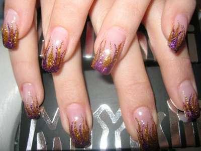 аквариумный дизайн ногтя