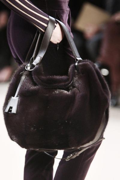 модные сумки из меха  2012-2013