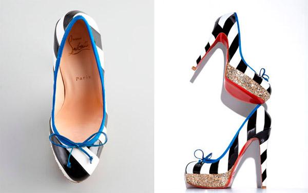 туфли Foraine Glitter-Platform Pumps от Кристиана Лубутена