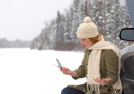 смартфон в условиях холода