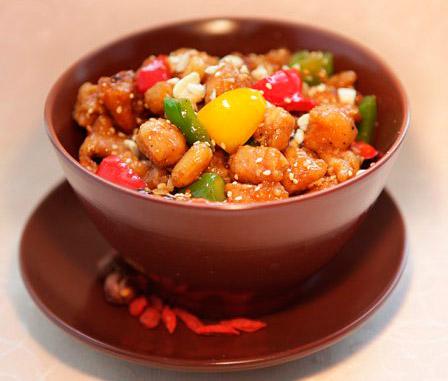 курица с паприкой по-китайски