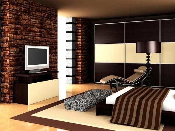 Интерьер спальни в стиле неоклассицизма