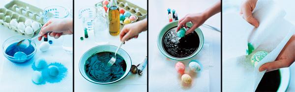 оригинальная покраска яиц на Пасху