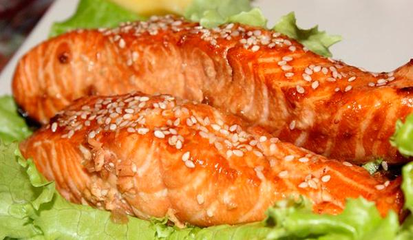 рецепт красная рыба в соевом соусе