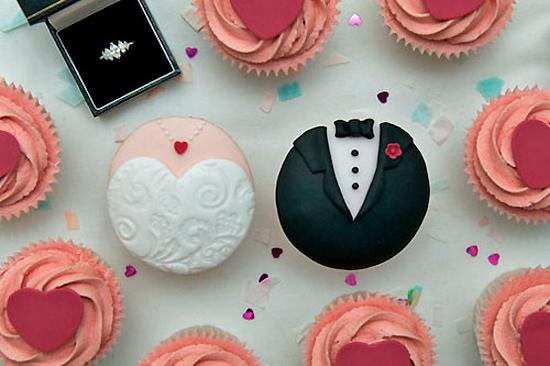 свадебные кексы