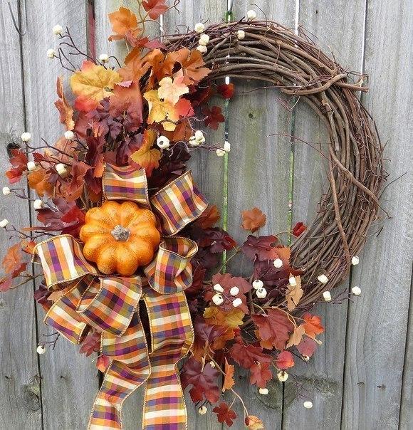 Осенние венки. Декор дверей