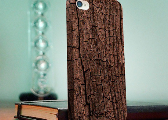 деревянный чехол iphone