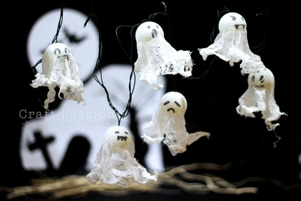 гирлянда с привидениями на Хэллоуин