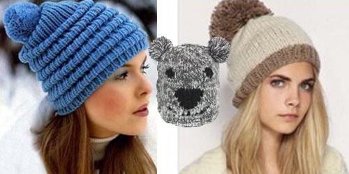 Модные вязаные шапки 2013
