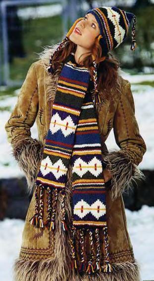 Объемные шарфы