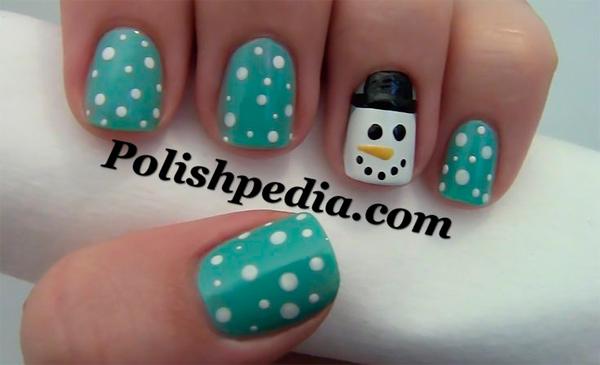 Новогодний дизайн ногтей для коротких ногтей