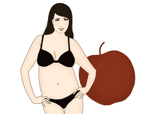 """советы для фигуры """"яблоко"""""""