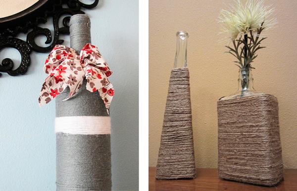 украсить старую вазу