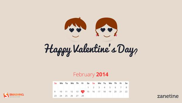 обои на компьютер День Валентина