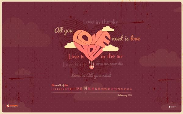 обои на десктоп День Влюбленных