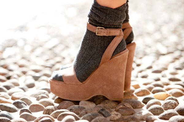 обувь с носками весна 2014