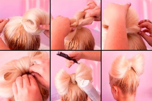 Как сделать бант на волосы из ленты пошаговое фото