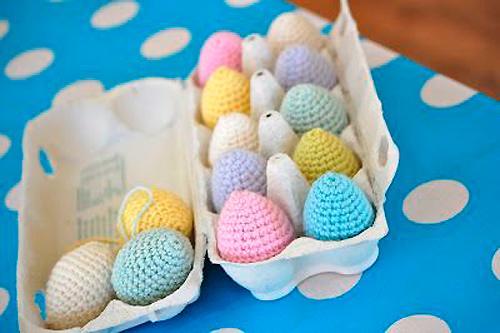 вязаные идеи для пасхальных яиц