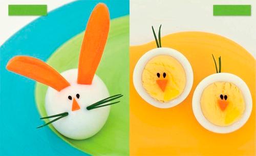 вареные яйца на пасхальном столе