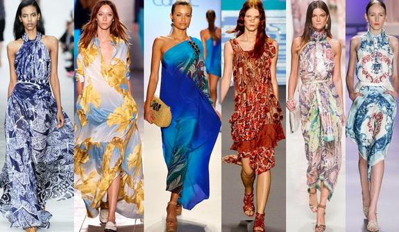 модные платья весна лето 2014